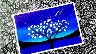 #17 Hướng dẫn vẽ tranh galaxy bằng màu nước đẹp lung linh.