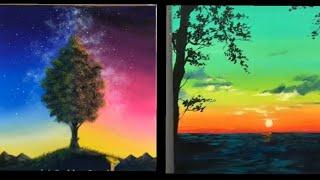 Nghệ thuật vẽ tranh galaxy đỉnh cao bằng màu nước và acrylic.