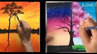 Nghệ thuật vẽ tranh galaxy đỉnh cao bằng màu acrylic.