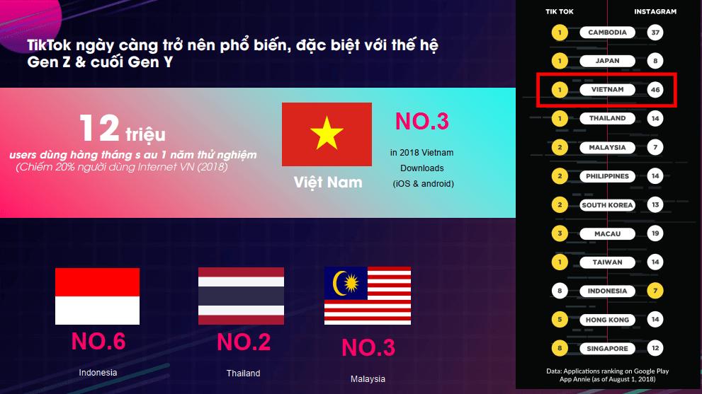 Tik Tok tại thị trường Việt nam