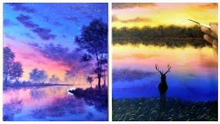 Nghệ thuật vẽ tranh galaxy đỉnh cao bằng màu nước và acrylic