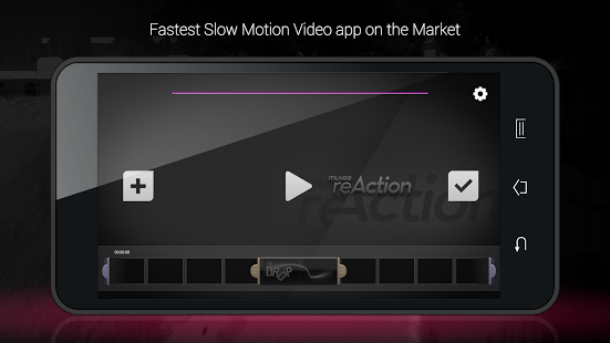 Giao diện Reaction Slow Motion Pro trên Android
